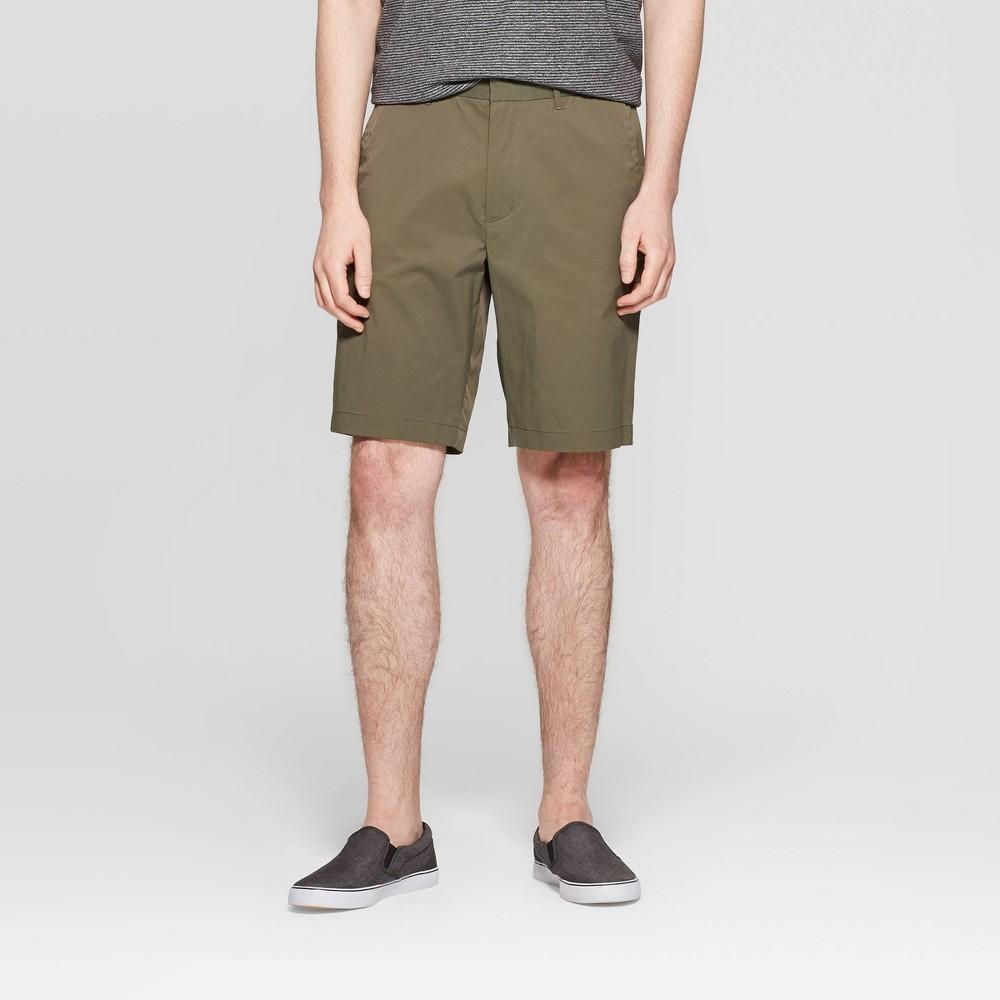 "Men's 10.5"" Chino Shorts - Goodfellow & Co Late Night Green 32, Late Black Green"