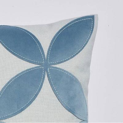 """16""""x16"""" Nexus Applique Throw Pillow Blue - Sure Fit : Target"""