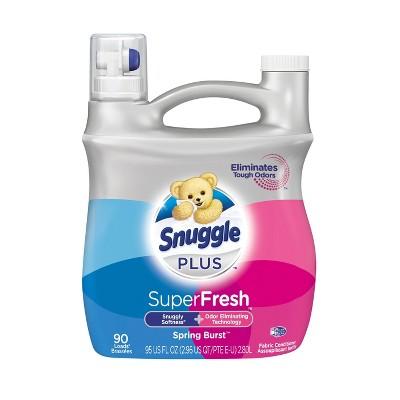 Snuggle Plus Super Fresh Liquid Fabric Softener, Spring Burst, 95 fl oz , 90 Loads