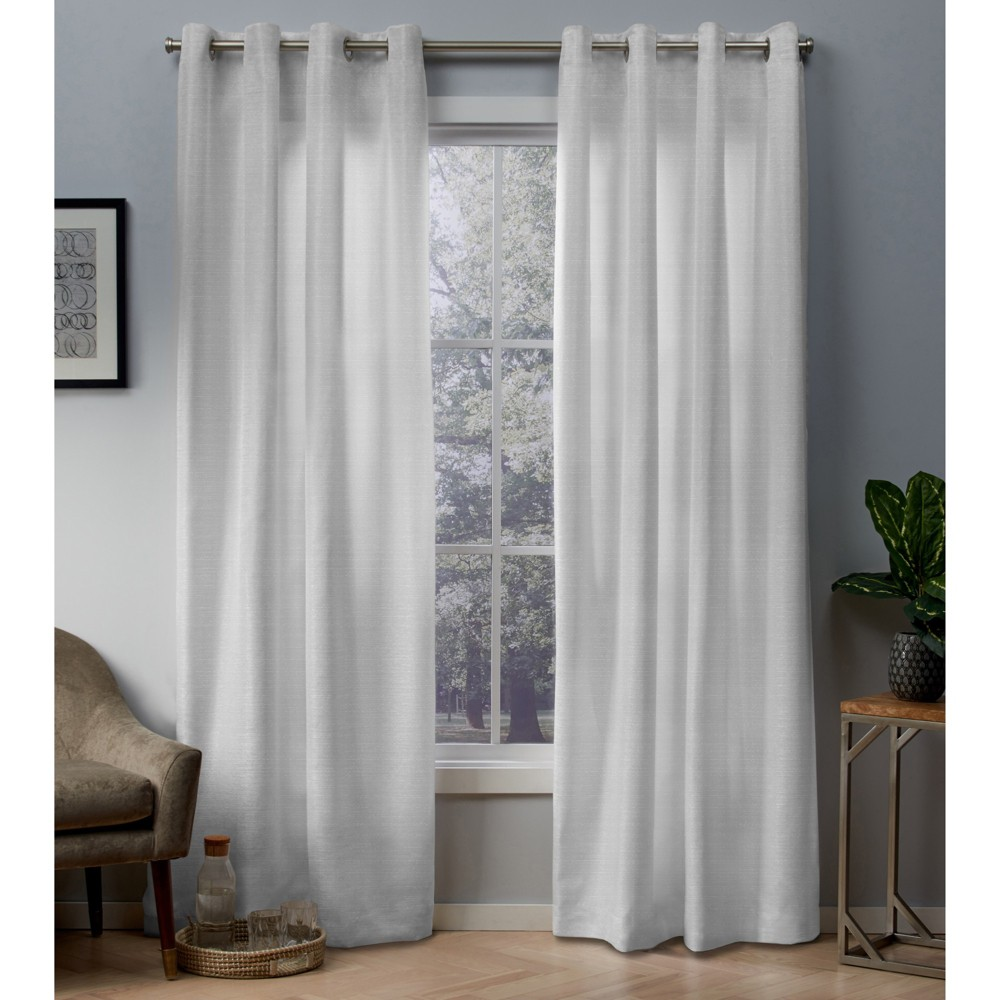 Whitby curtain panels White Gold 54x96 - Exclusive Home