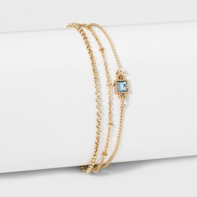 Square Stone Bracelet - A New Day™ Gold