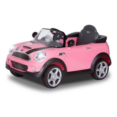 Rollplay 6V Mini Cooper Powered Ride-On - Pink