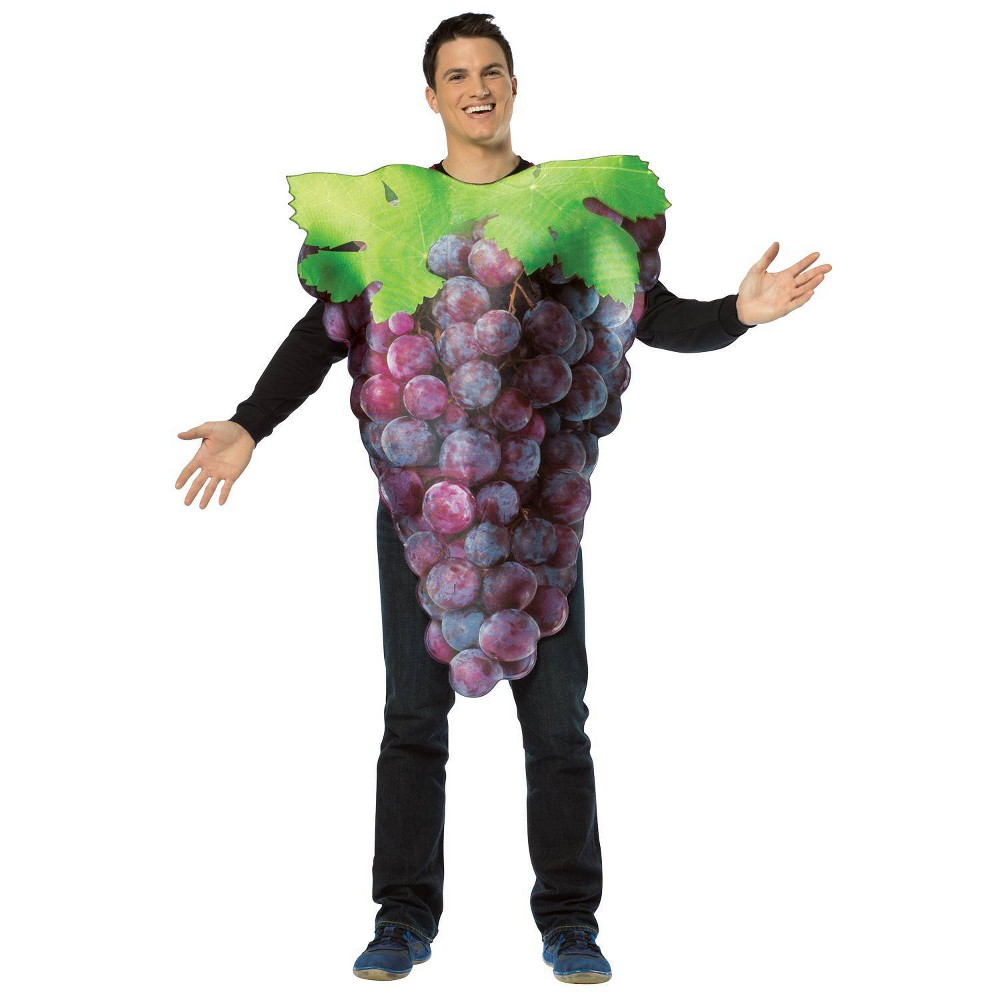 Image of Halloween Get Real Bunch of Purple Grapes Adult Costume, Adult Unisex, Size: One Size, MultiColored