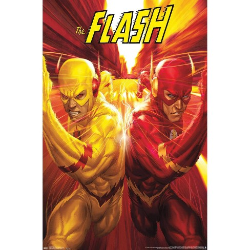 34 X 22 Dc Comics The Flash And The Reverse Flash Race Unframed Wall Poster Trends International Target