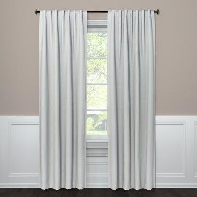 Blackout Curtain Panel Small Check Gray 95  - Threshold™
