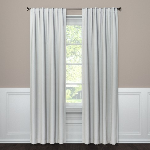 Small Check Curtain Panels - Threshold™ - image 1 of 2