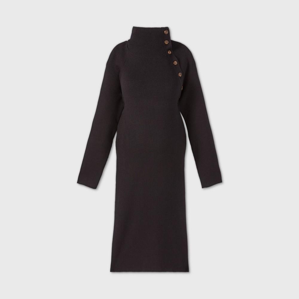 Long Sleeve Sweater Maternity Dress Isabel By Ingrid 38 Isabel 8482 Black Xl