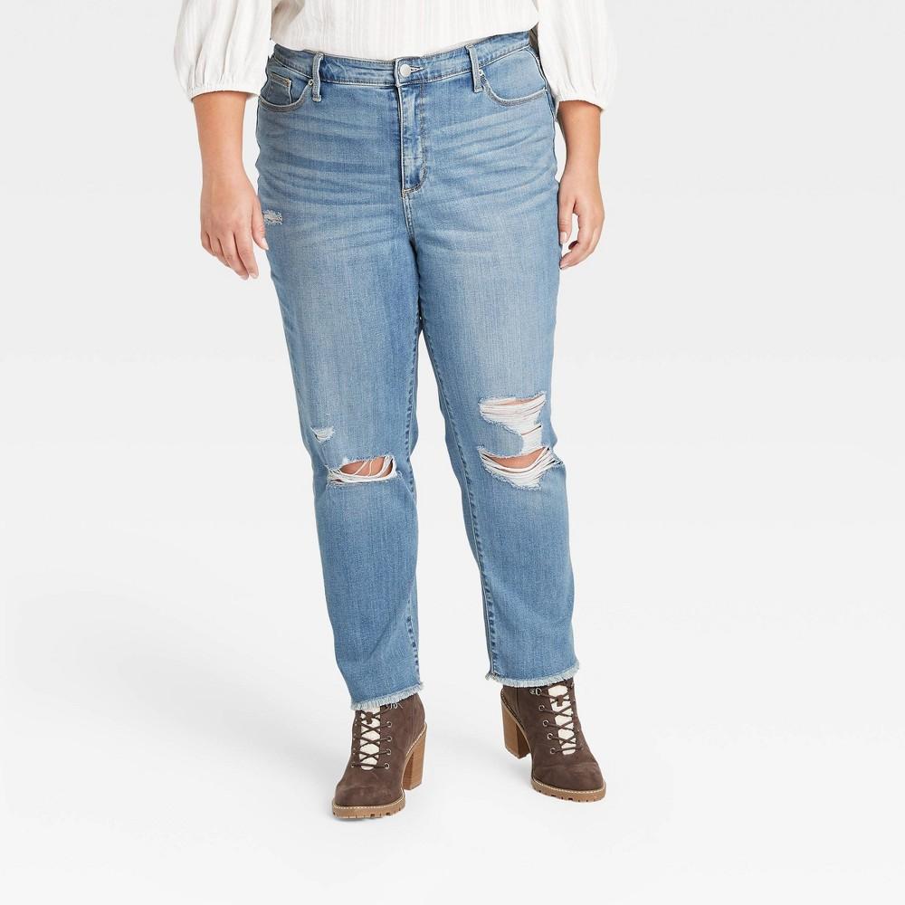 Women 39 S Plus Size High Rise Skinny Jeans Universal Thread 8482 Light Wash 20w