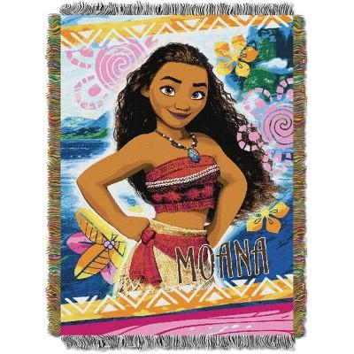 Moana Island Girl Tapestry Throw