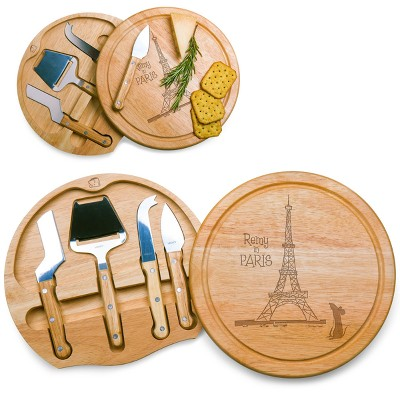 Disney Ratatouille Circo Wood Cheese Board with Tool Set by Picnic Time