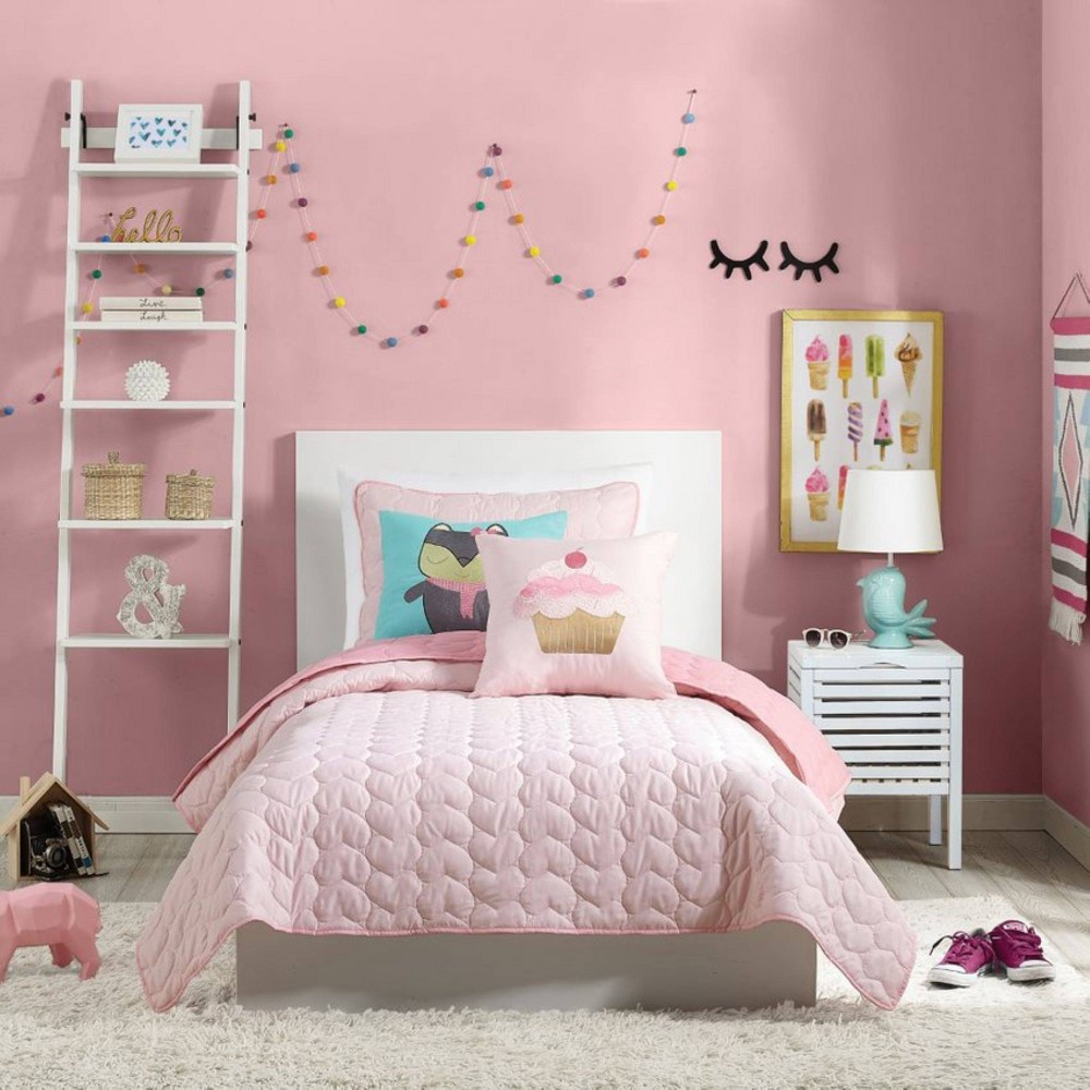 Image of 2Pc Twin Helaine Quilt Set Pink - Urban Playground
