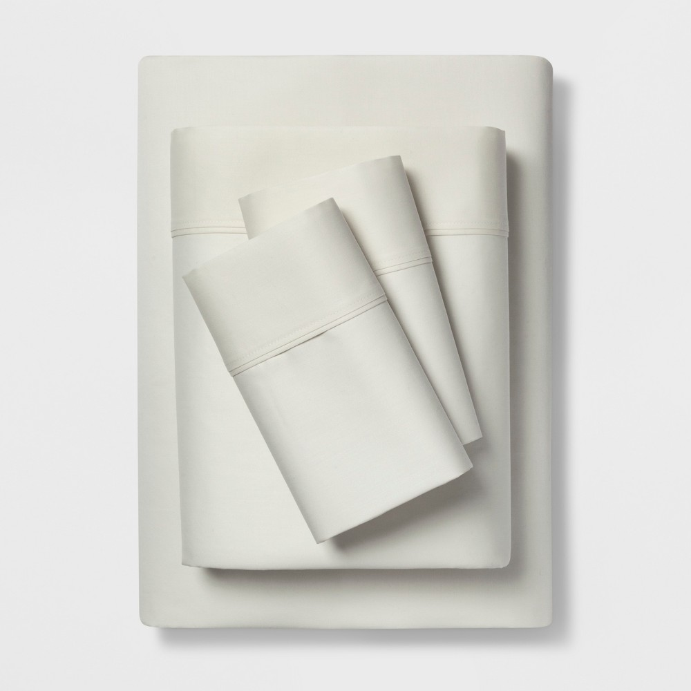 Full 400 Thread Count Solid Performance Sheet Set Sour Cream - Threshold