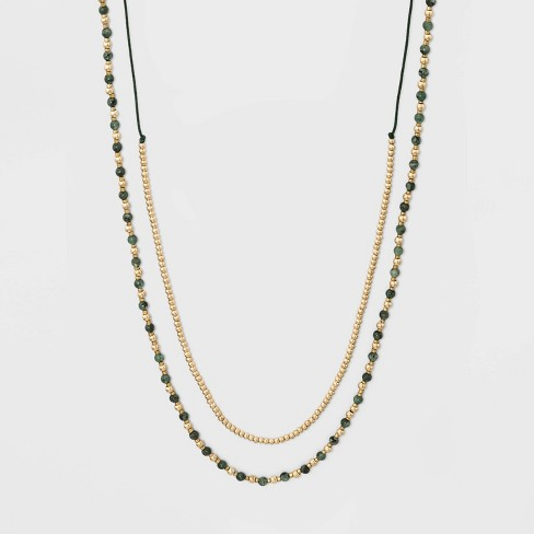 Semi Brass Necklace - Universal Thread™ - image 1 of 3