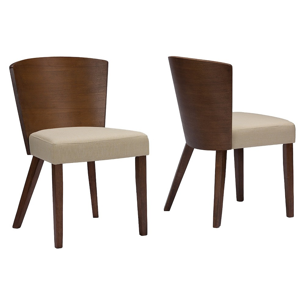Sparrow Modern Dining Chair - Brown/Light Brown (Set Of 2) - Baxton Studio