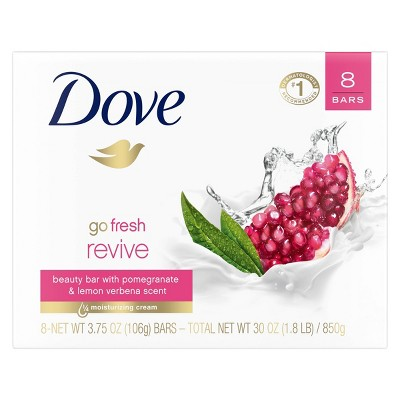 Dove Fresh Revive Pomegranate & Lemon Verbena Beauty Bar Soap - 8pk - 3.75oz each