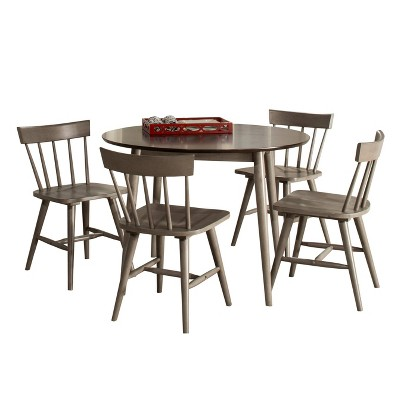 5pc Mayson Dining Set with Spindle Back Chairs Gray - Hillsdale Furniture