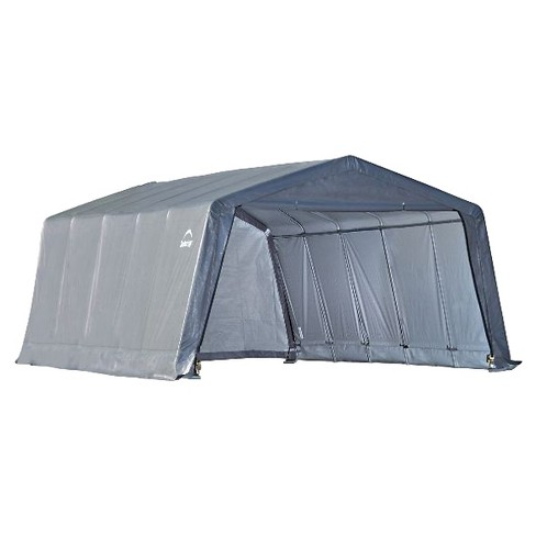 Garage - In - A - Box12' X 20' X 8'Peak Style Instant Garage - Gray - Shelterlogic - image 1 of 2