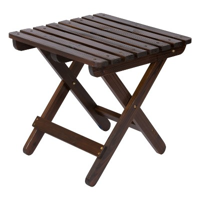 Adirondack Folding Table - Brown