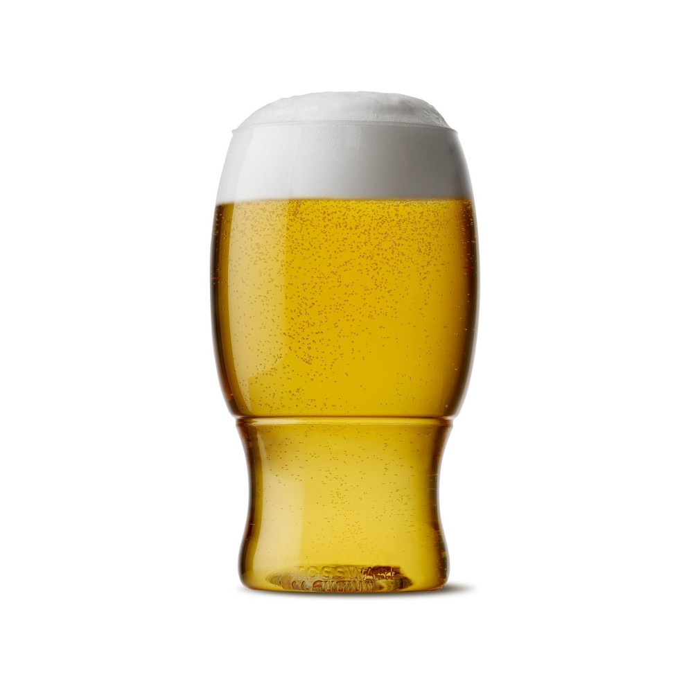 Image of 18oz Set of 48 Pint Plastic Beer Glasses Clear - TOSSWARE