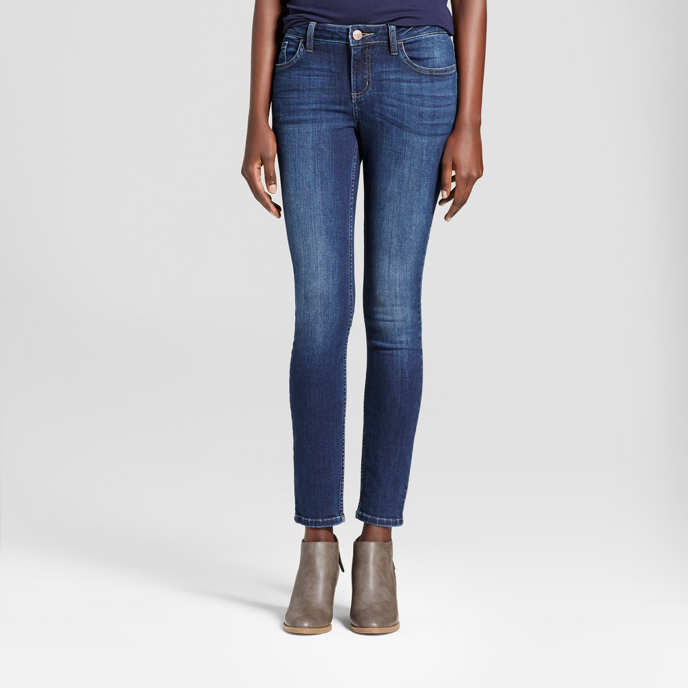 Women's Curvy Fit Skinny Jeans - Crafted by Lee Medium Blue 12 Long