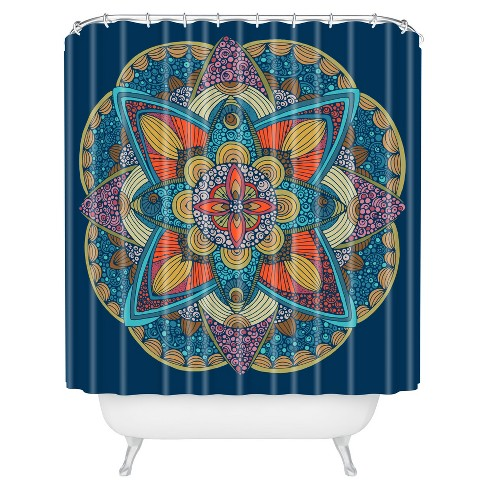Valentina Ramos Peony Shower Curtain Blue