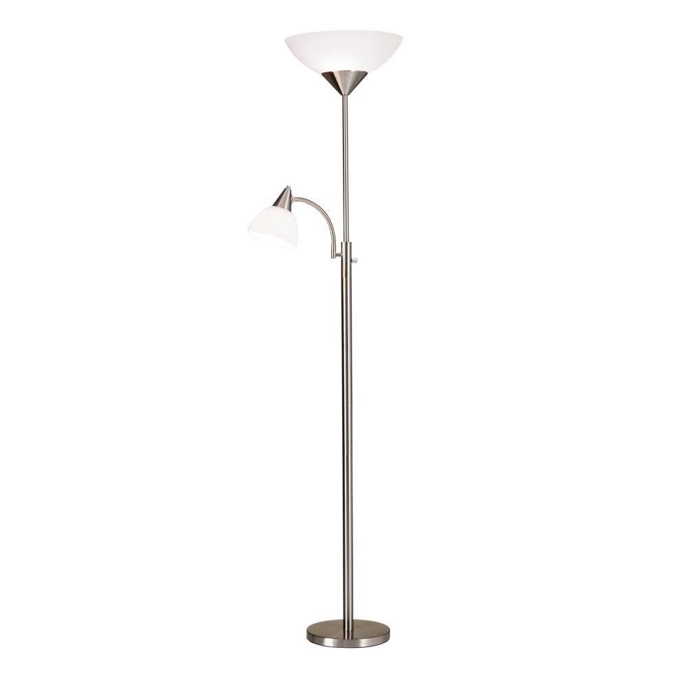 71 34 Piedmont Combo Floor Lamp Steel Adesso