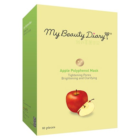 My Beauty Diary Brightening & Clarifying Tightening Pores Face Mask - Apple - 10ct - image 1 of 1