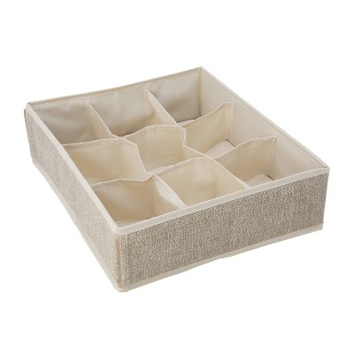 Simplify 9 Compartment Drawer Organizer Faux Jute