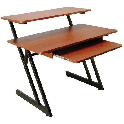 On-Stage Stands Wood Workstation, Rosewood