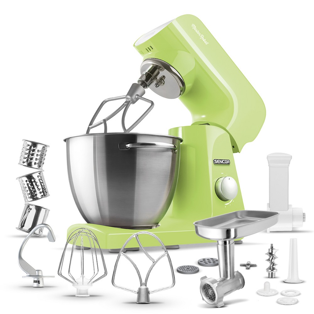 Sencor 4.75qt Stand Mixer and Accessories – Lime (Green) 54289367