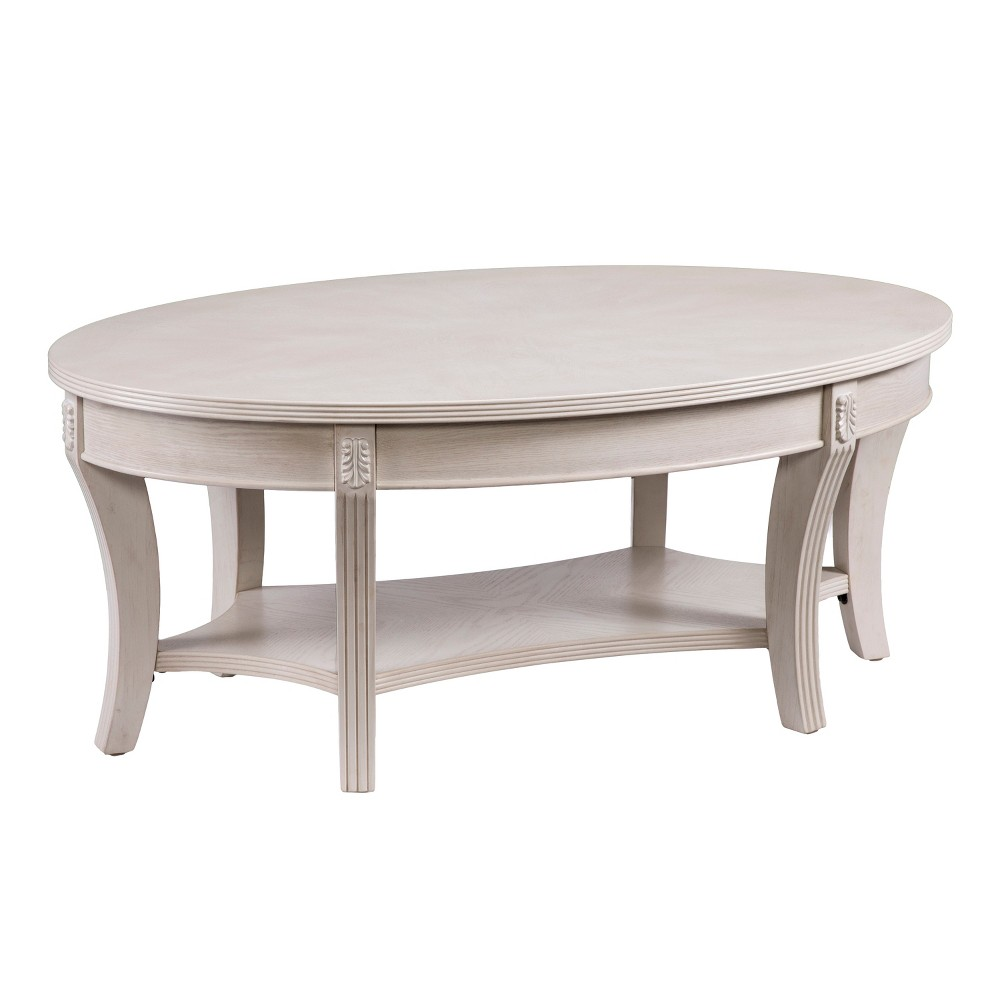Lena Traditional Oval Cocktail Table Brown - Aiden Lane
