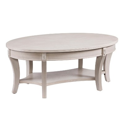 Lena Traditional Oval Cocktail Table Brown   Aiden Lane
