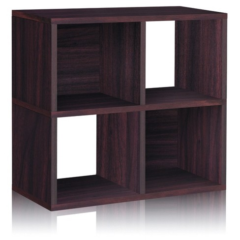 Under Desk Storage 4 Cubby Bookshelf Eco Friendly And Formaldehyde Free Espresso Lifetime Guarantee