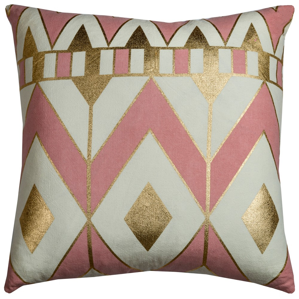 Image of Rachel Kate Geometric Throw Pillow Pink