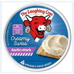 The Laughing Cow Garlic & Herb Spreadable Cheese - 6oz