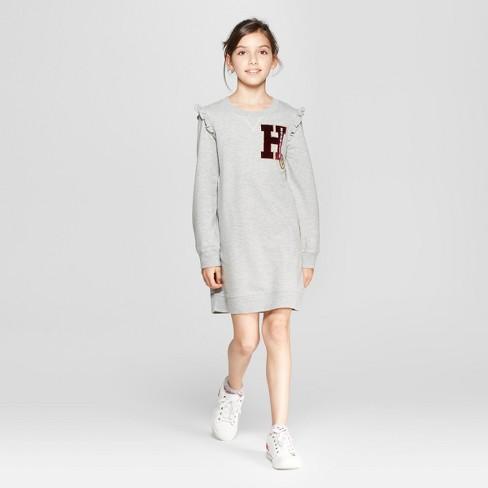 679f356d729 Girls  Harry Potter Long Sleeve Dress - Gray   Target