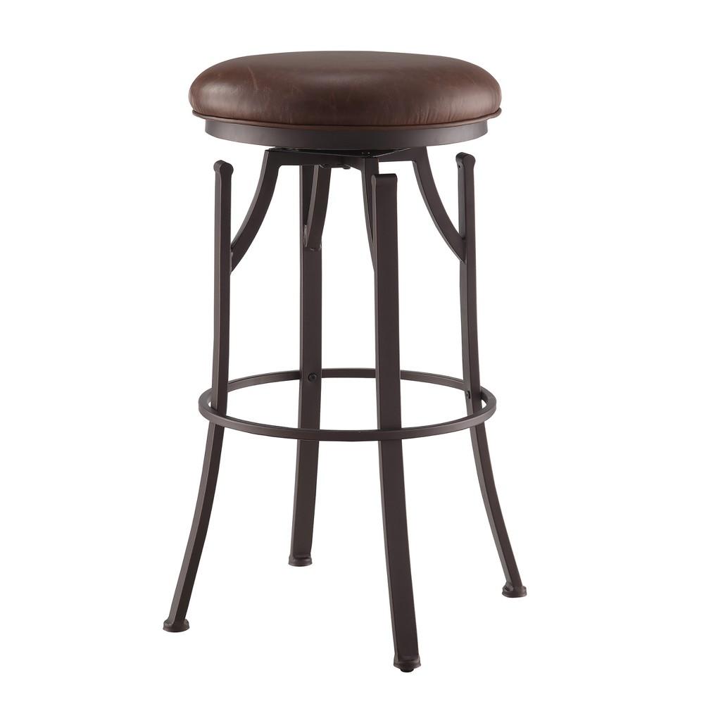 30 Cormac Swivel Bar Stool Brown / Bronze - Carolina Chair & Table, Brown/Bronze