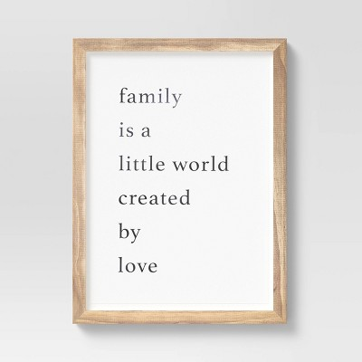 "16"" x 20"" Family Framed Wall Art - Threshold™"