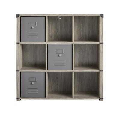 Nova 9 Cube Storage Bookcase – Grey Oak
