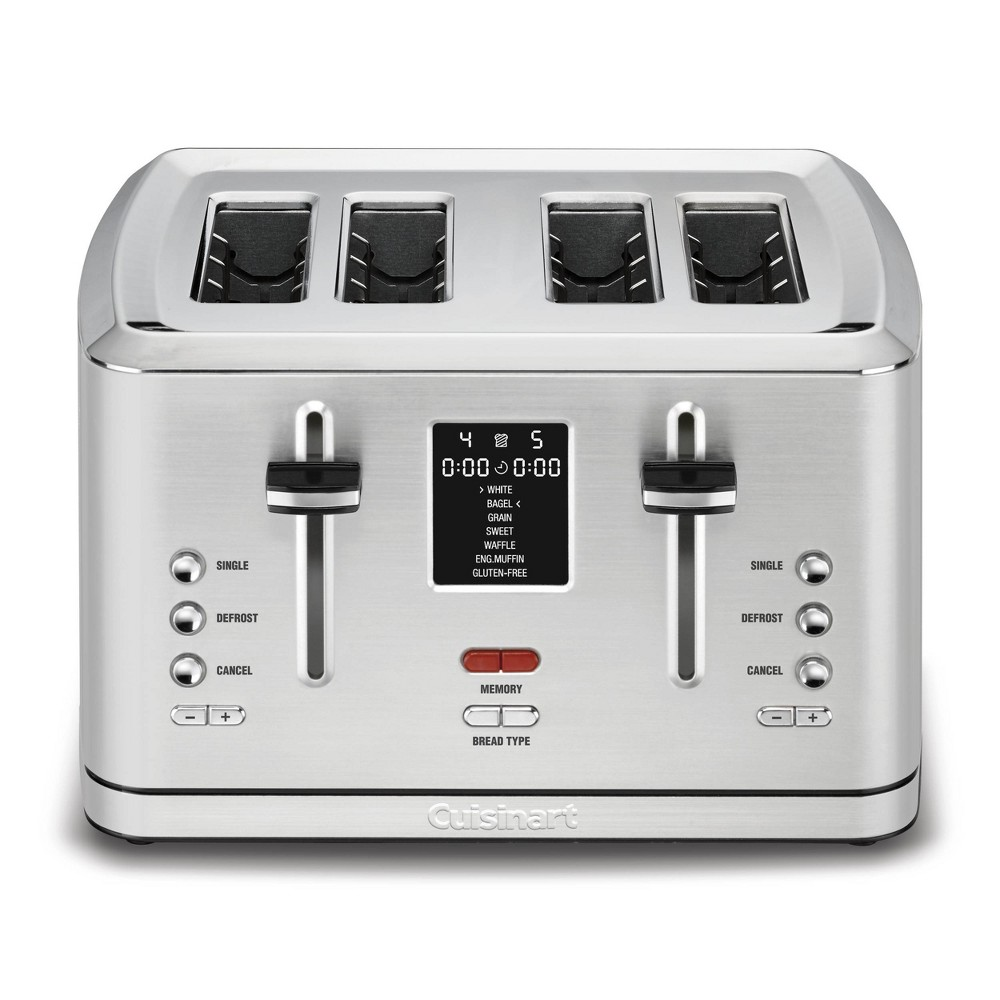 Cuisinart 4 Slice Digital Toaster W Memoryset Feature Stainless Steel Cpt 740