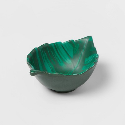 7.5oz Bamboo Melamine Leaf Mini Snack Bowl Green - Opalhouse™