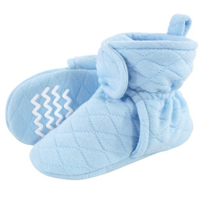 Hudson Baby Infant and Toddler Boy Quilted Booties, Light Blue