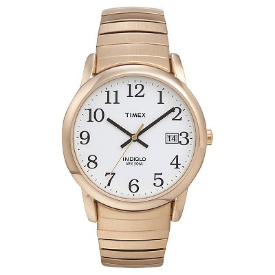 Men's Timex Easy Reader Expansion Band Watch - Gold T2H3019J