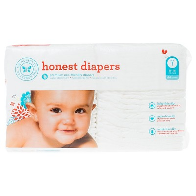 Honest Company Diapers White - Size 1 (44ct)
