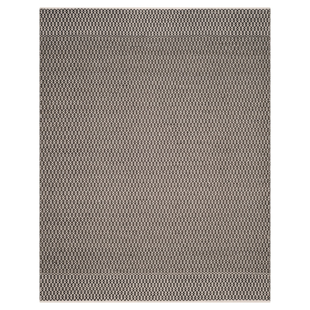 Ivory/Black Abstract Woven Area Rug - (8'X10') - Safavieh