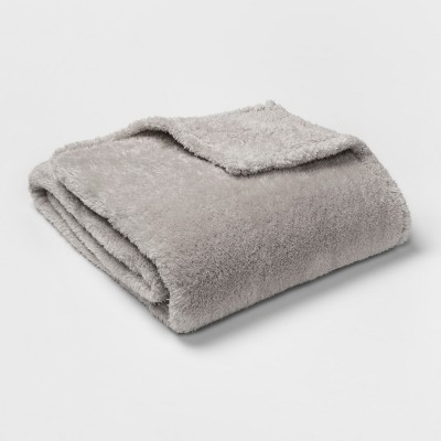 Sherpa Blanket (Twin/Twin XL)Light Gray - Room Essentials™