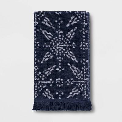 Tile Tufted Hand Towel Blue/White - Threshold™