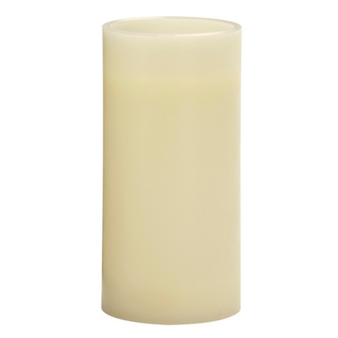 """3"""" x 6"""" Vanilla Scented LED Pillar Candle Cream - Made By Design™ - image 1 of 3"""