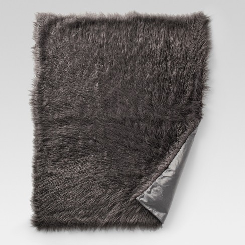 Mongolian Faux Fur Throw Blanket - Project 62™ - image 1 of 2