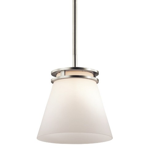 """Kichler 1687 Hendrik Single Light 8"""" Wide Mini Pendant with Satin Etched Glass Shade - image 1 of 1"""